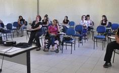 Aulas são realizadas no bloco de Educação Física