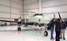Avião da Universidade do Wyoming, usada para medições meteorológicas