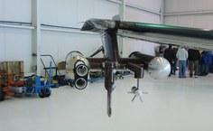 Equipamentos de medição na asa do avião