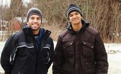 Leandro e Carlos no início da temporada em Oswego