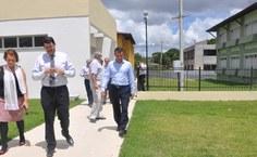 Área externa das casas da Residência Universitária Alagoana (RUA)