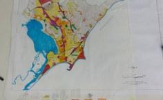 Mapa feito a mão pela equipe do MEP mostra os padrões urbanos de Maceió