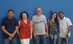 Professores organizadores do encontro (Elton, Maria Tereza, Kleber e Socorro) e diretor do IF, Carlos Jacinto da Silva