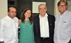 Amauri Barros (Pró-reitor de graduação), Simoni Meneghetti (Pró-reitora de Pesquisa), Kleber Cavalcanti Serra (professor do IF) e Eduardo Lyra (Pró-reitor de extensão)