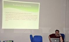 O professor Antônio Carlos de Barros Corrêa, da Universidade Federal de Pernambuco, palestrou na aula inaugural