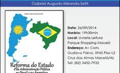 Convite de lançamento do livro de Gabriel Setti