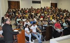 Professor Eraldo Ferraz, coordenador do evento e do curso de Pedagogia