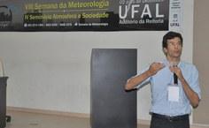 Professor Humberto Barbosa falou sobre a importância do Sistema EUMETCast no Brasil e sobre seu uso na Ufal