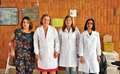 Adriana Barros, a coordenadora Maria das Graças Padilha, Saissia Correia e Jeane Vieira