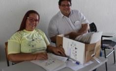 Professores e mestrandos do PPGECIM, Luciana Tener e Ilson Mendonça.