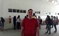 Marcos Fonseca veio de Campo Grande   MS e estava muito feliz com a classificação em Medicina