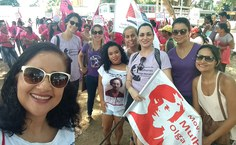 Representantes do Movimento Olga Benario