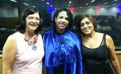 A pró reitora Sandra Regina Paz, na posse da Acale