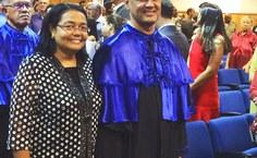 O vice reitor, José Vieira Cruz, no dia da posse