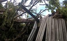 Estrutura ficou parcialmente danificada