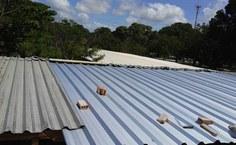 Sinfra já concluiu o serviço de recuperação do telhado