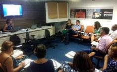 Uma das reuniões para discutir o processo de tombamento. Foto do Iphan