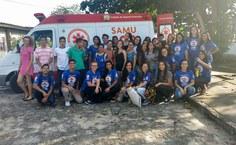 Equipe que participou da atividade com o Samu