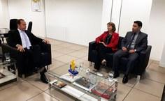 Valéria Correia com o secretário Nacional do Ministério do Esporte e o assessor do ministro do turismo