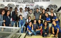 Alunos do Paespe em visita ao estádio Rei Pelé