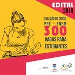 Pré-Enem Comunitário oferta 300 vagas para estudantes