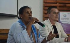 Professora Maria Ester participou da solenidade de abertura destacando a importância do evento