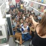 Biblioteca Volante encanta público infantil na SBPC Jovem
