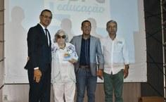 Professora e antropóloga Luitgarde Cavalcanti Barros e professor Antonio Leal (in Memorian), foram homenageados