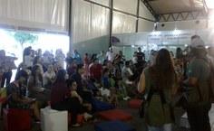 Falcoaria da SBPC Alagoas. Fotos: Viviane Borges e Íris Danielle