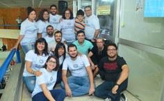 Equipe da Rádio Ufal na cobertura da SBPC 2018 (Foto: Sombra Maceió)
