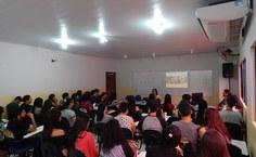 Mesa-redonda Ensino da biologia no século 21. Foto: André Miranda