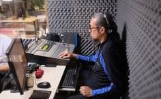 Estúdio de Rádio Web. Foto: Renner Boldrino
