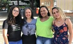 Pietra, Jeanne, Maria Fabiana e Aryanne relatam a experiência de estudar na Ufal