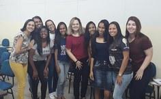 Grupo que faz parte do projeto 'As meninas nas geociências'