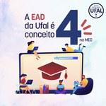 Ufal é conceito 4 também na Educação a Distância