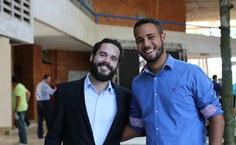 Representantes da Empresa Júnior (EJ) Jangadeiros (Foto: Blenda Machado)