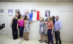 Cerimônia de aposição de foto na galeria de honra. Foto: Renner Boldrino
