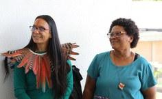 Representante dos povos indígenas de Alagoas e responsável pelas questões étnico-raciais participaram do evento. Foto: Renner Boldrino