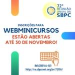 72ª Reunião Anual da SBPC está com inscrições abertas para webminicursos