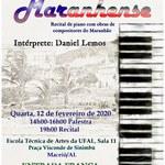 Pianista Daniel Lemos promove recital e palestra na ETA