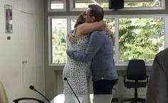 Vice-reitora cumprimenta novo diretor do Campus Arapiraca, professor Arnaldo Tenório