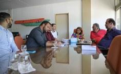 Reunião no gabinete da vice-reitora