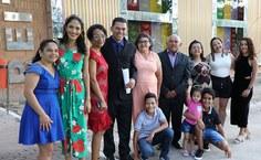 Jacob e sua família que veio prestigiá-lo