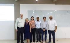 Da esquerda para direita Josealdo Tonholo (IQB); Marília Goulart (IQB); Isabel Porto (Foufal); Marcos Oliveira (IQB); Ticiano Nascimento (ICF) e Irinaldo Diniz (ICF). Foto Arquivo pessoal