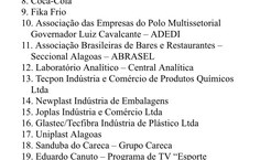 Lista das empresas