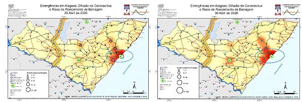 Evolução do vírus em Alagoas