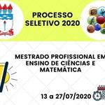 Abertas inscrições para mestrado profissional no Ensino de Ciências e Matemática