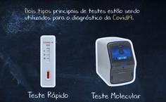 Vídeo sobre teste rápido e RT-PCR