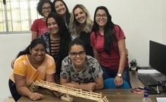 Projeto Mulheres nas exatas faz ação em escolas públicas. Foto: Arquivo pessoal