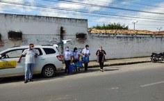 Equipe na coleta de dados e testes em Arapiraca. Foto: Cícero Rodrigues